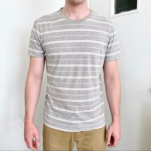 Banana Republic gray striped T
